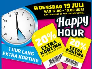 Trekpleister Happy Hour met 20% korting in de winkels