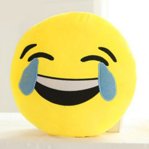 Cartoon Smile Face Emoticon Pattern kussen voor €1,20 dmv code