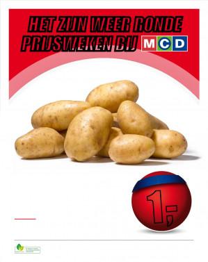 Zak van 5 kilo aardappelen voor €1  Bij MCD Supermarkten