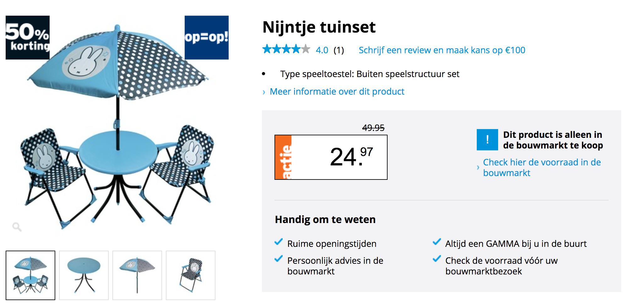 Wonderbaar Nijntje tuinset voor €24,97 WR-26