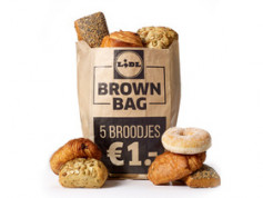 5 broodjes in de brown bag voor €1