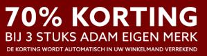 ADAM Brandstore sale 70% korting op het merk Adam Friday