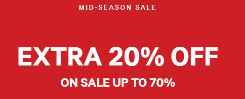 H&M Sale met 10%  extra korting op de sale tot 70% dmv code