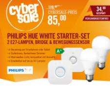 Combo-deal Philips Hue White starterpack (2xE27 met bridge 2.0) en Hue motion sensor voor €92,99