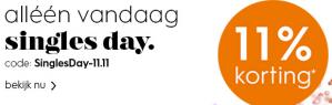 Blokker Singles Day 11% korting dmv code
