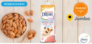 Probeer DREAM™ Almond Oat voor €1 dmv cashback alleen bij JUMBO