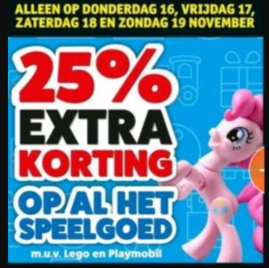 Speelgoed 25% (extra) korting