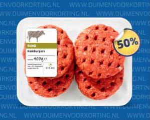 Kortingsbon Lidl voor 50% korting op een pak hamburgers