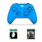 Xbox One Blue Wireless S Controller + Halo 5 + Gears of War 4 voor €66,35