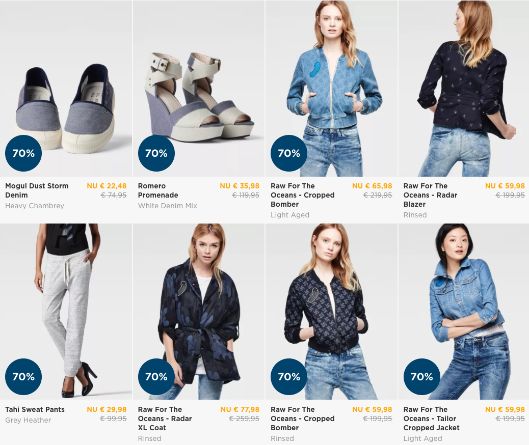G Star Sale | Tot 70% korting in onze online G Star outlet