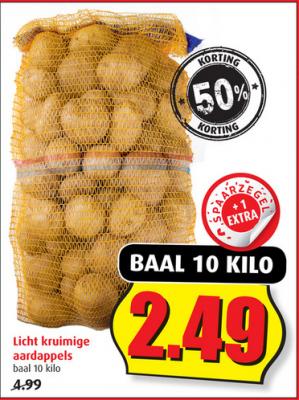 Baal van 10 kilo Aardappels voor €2,49