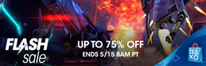 Playstation flash sale tot 75% korting.