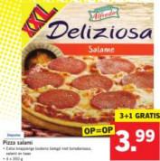 4 Stuks Deliziosa pizza's voor €3,99