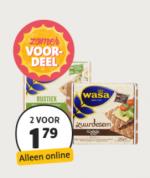 Wasa Crackers/Knäckebröd 2 verpakkingen voor €1.79