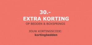 Diverse bedden en boxsprings met €30 korting dmv code