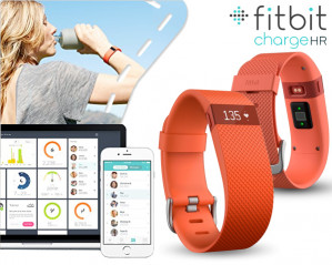 Fitbit Fitbit Charge HR Wristband activity tracker OLED Draadloos Oranje  voor €56,25