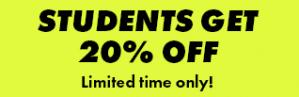 Na inschrijving 20% studentenkorting bij Asos