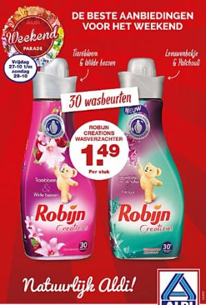 Robijn wasverzachter voor €1,49