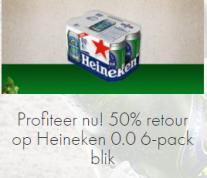 Probeer Heineken nu met 35 tot 50% d.m.v cashback