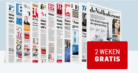 Kortingscode krant voor 2 weken lang gratis krant naar keuze