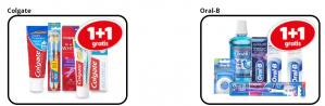 Alle Colgate mondverzorging 1+1 gratis en diverse Oral-B mondverzorging 1+1 gratis