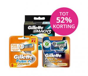 Tot 52% korting op Gillette