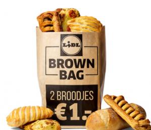 2 Luxe broodjes in de brown bag voor €1
