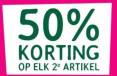 Sale bij Holland & Barret 50% Korting op elk 2e artikel, ook op actieproducten