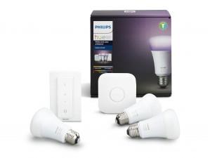 Philips hue E27 startpakket Richer colors (3 lampen + Bridge) 2018 voor €150 dmv code