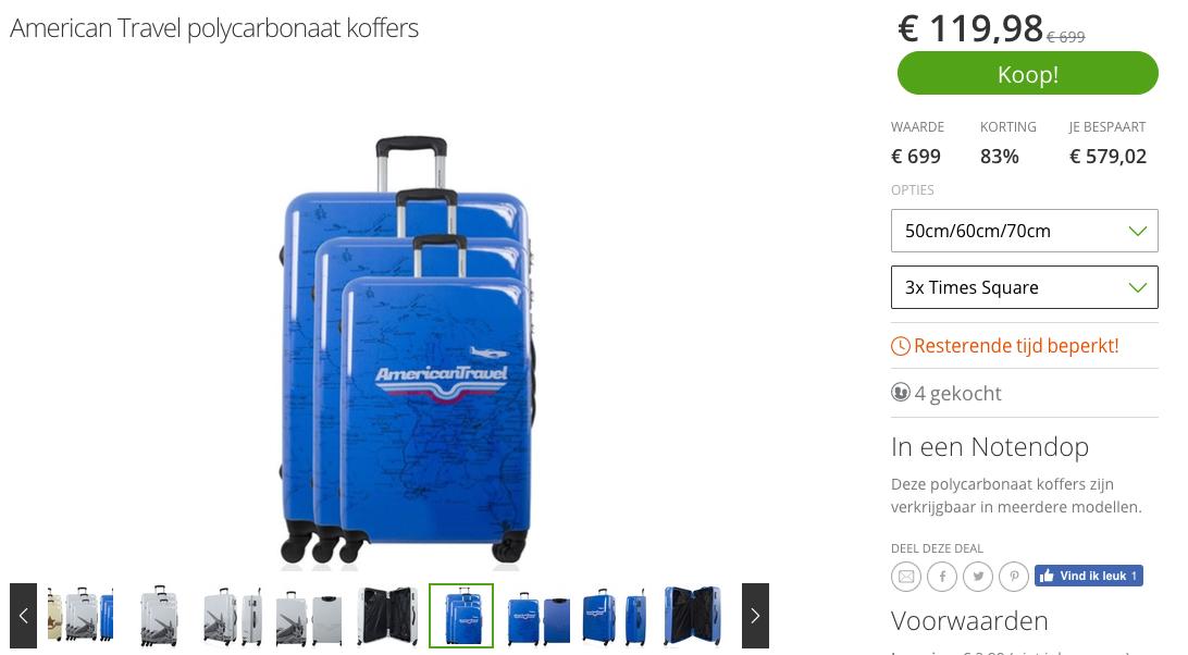 mooie schoenen order online American Travel koffers tot 85% korting