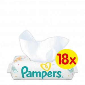 Pampers 18 x 56 babydoekjes voor €14,18