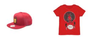 Marvel Deadpool shirt + Iron Man cap voor €11,98
