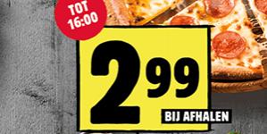 Domino's stuntweek alle medium pizza's voor €2,99