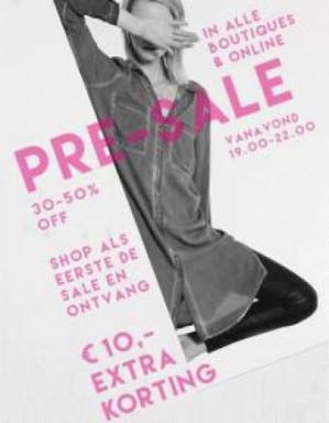 Vanavond 19-24u: 30-50% SALE + €10 extra korting met code (min €50)