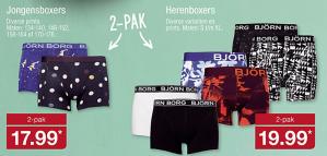 Björn Borg 2-pack boxershorts heren / jongens vanaf €17,99