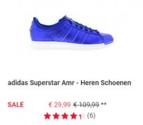 Foot Locker sale diverse Adidas Superstar sneakers voor  €29,99