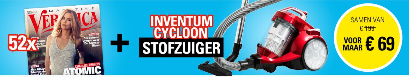 Jaar Abonnement Veronica Magazine + Inventum Cycloon stofzuiger voor €69