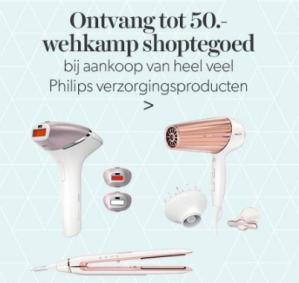 Gratis cadeaubon bij aankoop van geselecteerde Philips verzorgingsproducten