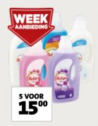 Robijn Vloeibaar Wasmiddel 5 flacons à 1407 ml voor €15