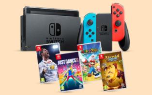 Nintendo Switch 32GB Console  met  game naar keuze voor €349