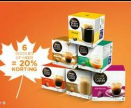 Tot 20% korting op je dolce gusto cups bij Dolce-Gusto.nl