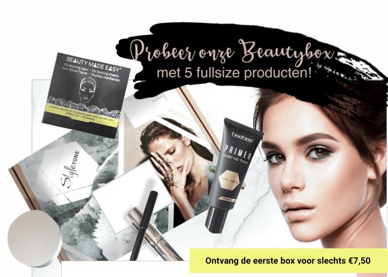Beautybox met 5 fullsize producten voor €7,50