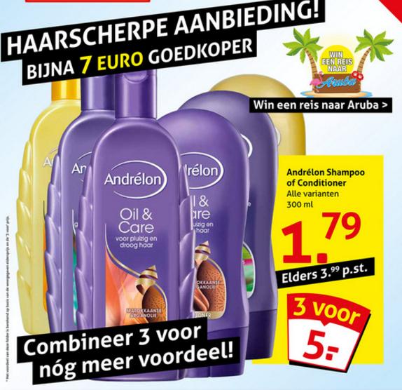 Andrelon 3 flessen voor €4,19 dmv code