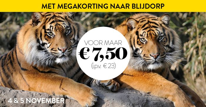 Tickets voor Kek Mama weekend in Diergaarde Blijdorp Rotterdam voor €7,50 + €0,70 transactiekosten