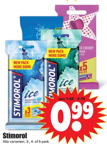 Stimorol alle varianten voor €0,99
