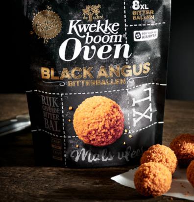 Kwekkeboom Oven Black Angus bitterballen voor €2 d.m.v. cashback voor geselecteerde leden