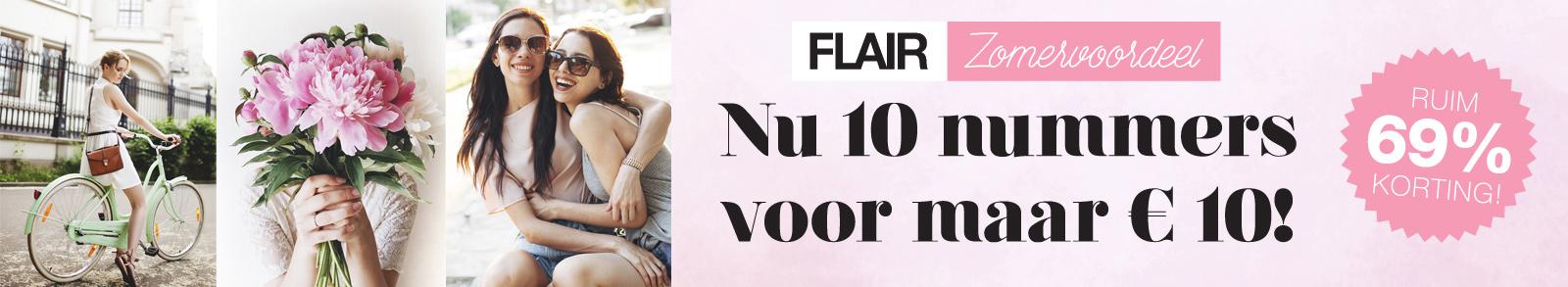 Abonnement voor 10 nummers van de Flair voor €10