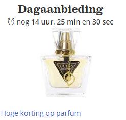 Diverse merken parfum tot 75% korting