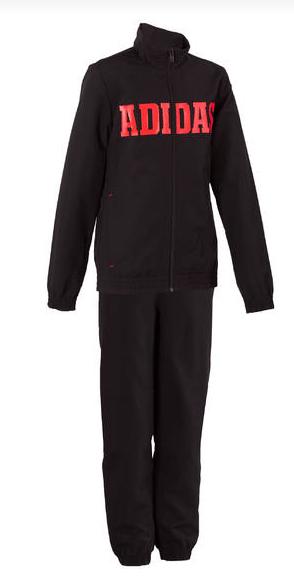 Adidas jongens trainingspak zwart/rood voor €23,99
