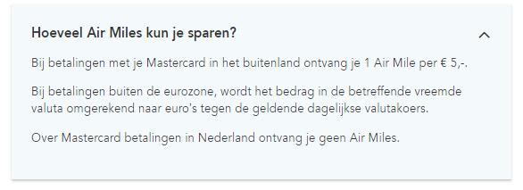 Air Miles Sparen Met Je Mastercard In Het Buitenland